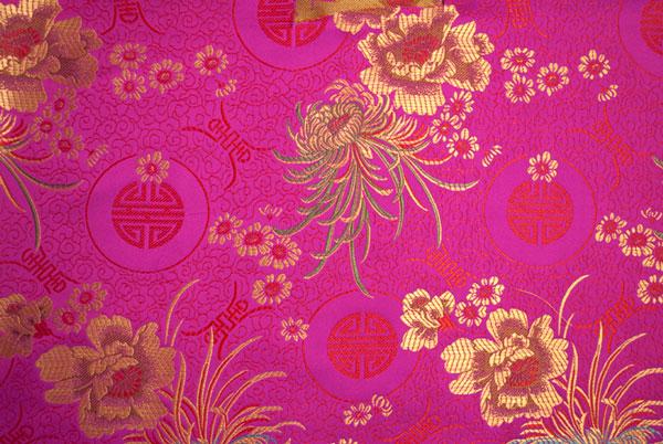 Pink brocade fabric